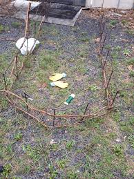 Rebar Garden Trellis Fence Gardening Flower And Vegetables