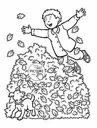 No Leaves Places To Visit Fall And Girl For Kids Autumn Printables Coloring Sheets