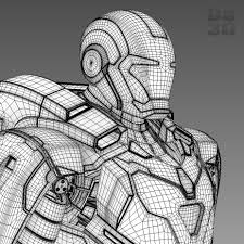 Iron Man Gemini Mark 39 3d Printable Model