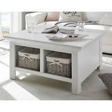 details zu couchtisch westerland tisch wohnzimmer inkl körbe landhausstil pinie weiß