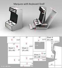 X Arcade Mame Cabinet Plans by Bartoplans Jpg 910 991 Pixels Desktop Mame Pinterest Arcade