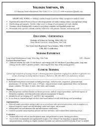 Sample Resume Registered Nurse New Grad Template 2 Of Nursing For Without Experience