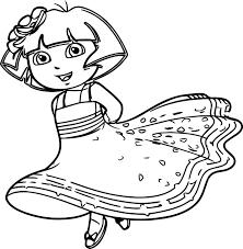Nick Jr Princess Dora The Explorer Queen Royal Junior Picture Popular Character Free Coloring