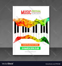 Music Festival Poster Background Flyer Template Jazz Piano Cafe Promotional Design