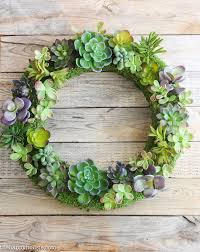 Pottery Barn Knock f Faux Succulent Wreath