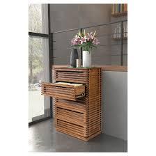 mid century modern 5 drawer 33 5 high dresser walnut zm home