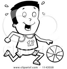 Basketball Court Clipart Black And White