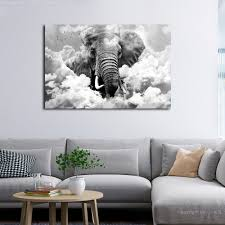 leinwand bilder 3d elefant himmel wolken wandbilder
