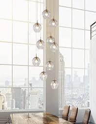 10 glaskugeln pendelleuchte treppenhaus kronleuchter duplex