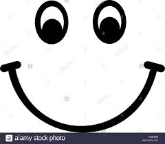 Smiley Face Emoji Black And White Stock Photos Images