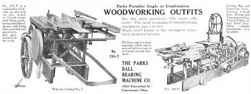 parks woodworking machine co history vintagemachinery org