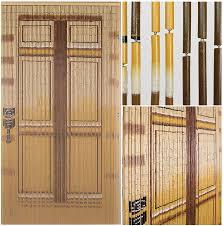 Doorway Beaded Curtains Wood by Beadedstring Bamboo Beaded Curtain Hand Painted Natural Bamboo