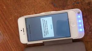 Battery case charger not working on iPhone 5 IOS 7