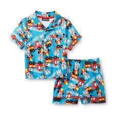 Joe Boxer Infant & Toddler Boy's Pajama Shirt & Shorts - Firetruck