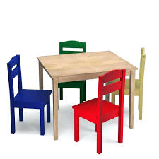 Childrens Wooden Table And Chairs Kids 5 Piece Table Chair ...