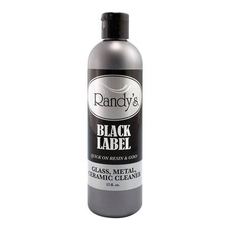 Randy's Black Label Cleaner Glass Metal Ceramic 12oz Bottle - Pack of Sixteen (16)