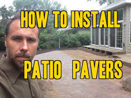 Installing 12x12 Patio Pavers by How To Install Paver Patios Walks And Driveways Youtube