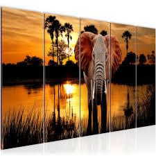 dekoration wandbilder afrika landschaft savanne sonne