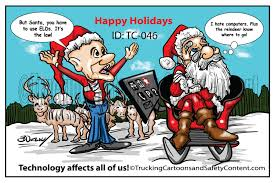 100 Tc Trucking TC046CartoonChristmas ELDs Bruce Outridge Productions
