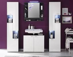 badezimmer set tetis weiß hochglanz graphit grau 4 teilig