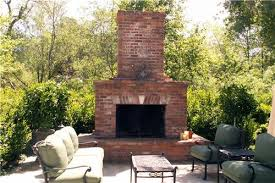 Unique Outdoor Patio Designs With Fireplace Backyard Brick