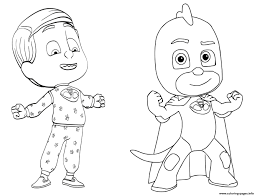 Fresh Pj Masks Coloring Pages Printable To Print Of Awesome