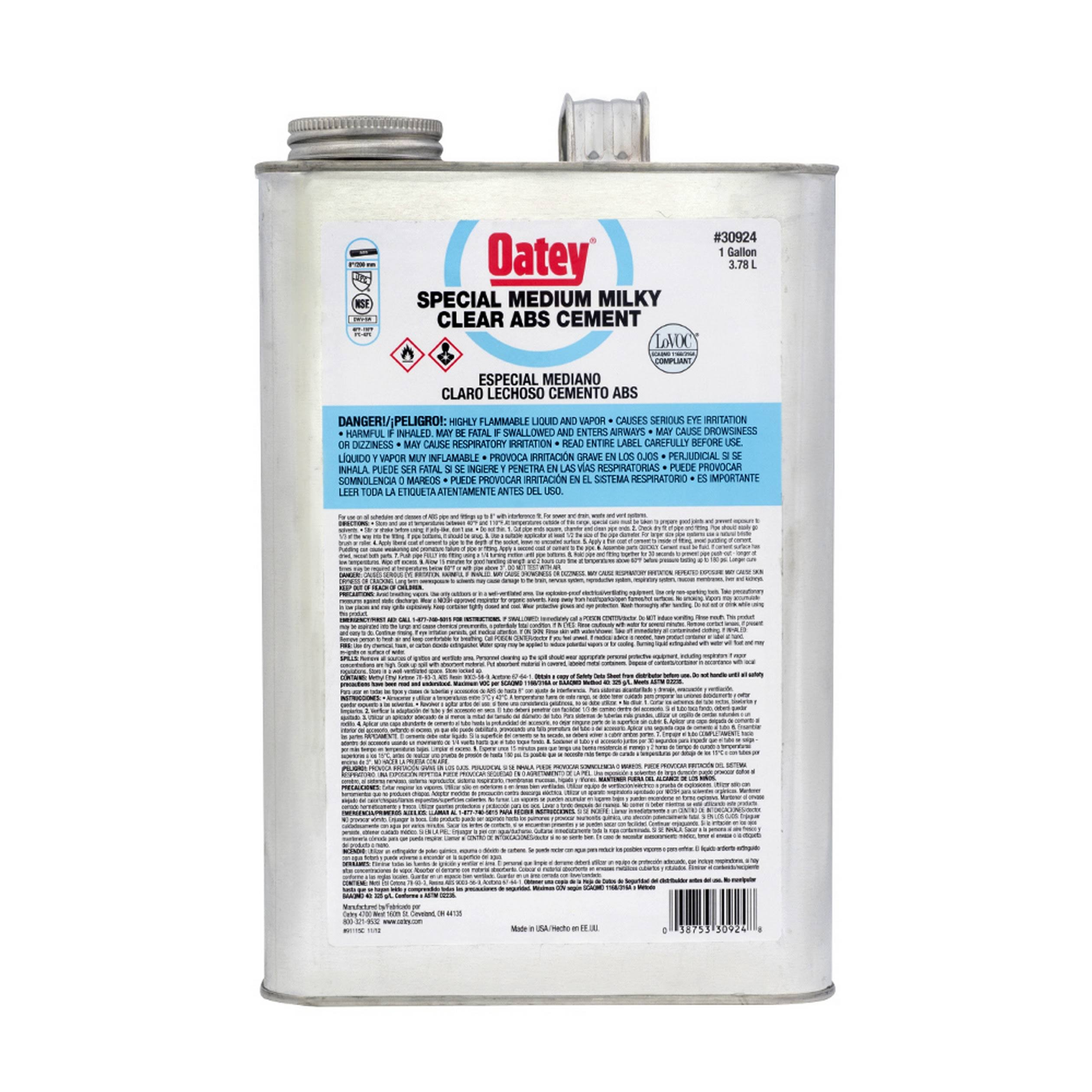 Oatey ABS Cement - Medium Black, 473ml