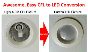 superior method for 4 pin g24 socket cfl to led conversion with