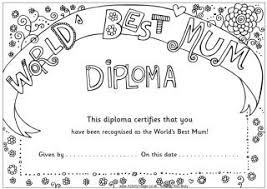 Mothers Day Colouring Pages Diplomas