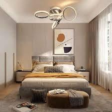 zmh led deckenleuchte deckenle wohnzimmer 39w innen 3000k warmweiß für schlafzimmer büro verstellbar ring