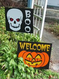 Metal Halloween Yard Stakes by Spooky Street Halloween Ornament Sign Wooden Halloween Yard Sign