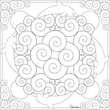 Mandalas Spirals Water Coloring Pages Mandala Color Page