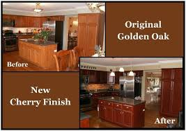 staining oak kitchen cabinets before and after mf cabinets