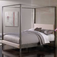 King Platform Bed With Fabric Headboard by Queen Size Modern Metal Platform Canopy Bed Frame With Upholstered