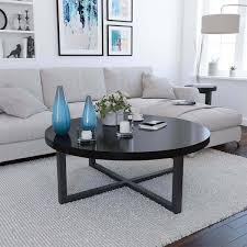 Giantex Rectangular Tempered Glass Coffee Table With Shelf Modern