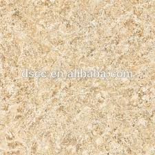 Italy Style Of Colonial Cream Granite Tiles Polished Faux Marble Floor With Shell Design