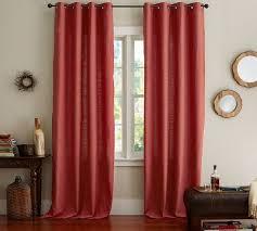 wohnzimmer rote vorhänge deko ideen bilder vorhang rot