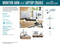 Varidesk Pro Plus 48 by Monitor Arm And Laptop Cradle Varidesk Standing Desks