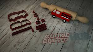 100 Fire Truck Cookie Cutter Hub