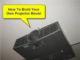 how to build your own projector mount youtube
