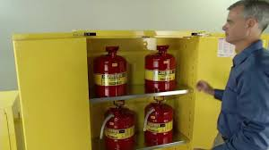 Flammable Cabinets Osha Regulations by Safety Cabinets By Justrite Youtube