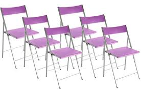 lot de 6 chaises pliantes violettes bilbao chaise pliante pas cher