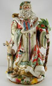 Spode Christmas Tree Cookie Jar Ebay by Fitz And Floyd Large Enchanted Holiday Santa Figurine 619 1465