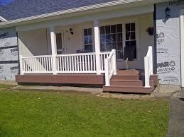 Porch Railing Completed And Installed Sunset Metal Fab Inc