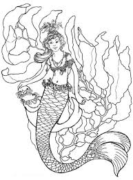 Pictures Mermaid Printable Coloring Pages 88 On For Adults With