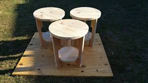 Handmade Wooden Pallet End Tables Or Side
