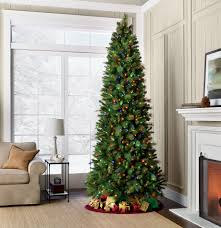 Slim Pre Lit Christmas Trees by 9 U0027 Pre Lit Valley Pine Tree U2014sears