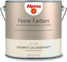 alpina 2 5 l feine farben farbwahl edelmatte wandfarbe für innen no 8 elegante gelassenheit ru