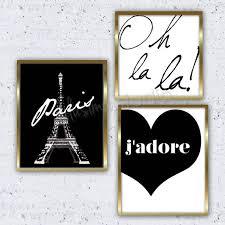 set of 3 paris prints paris decor wall decor by lulusimonstudio