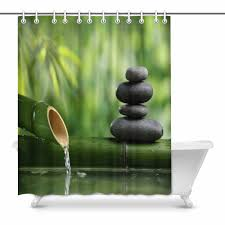 POP Spa Still Life With Bamboo Fountain And Zen Stone Bathroom Shower Curtain 60x72 Inch